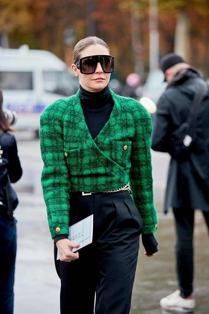 grüne kurze Jacke