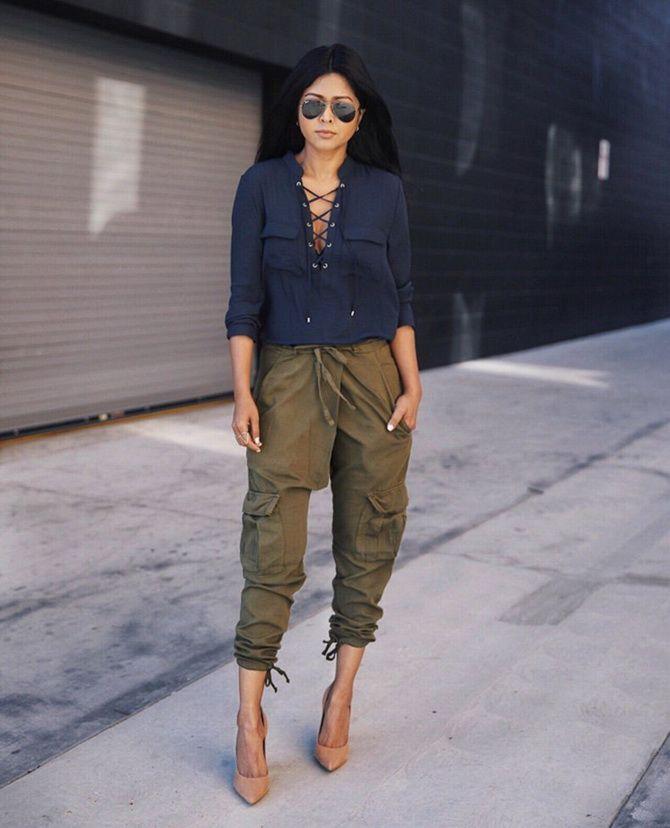 брюки Карго цвета хаки