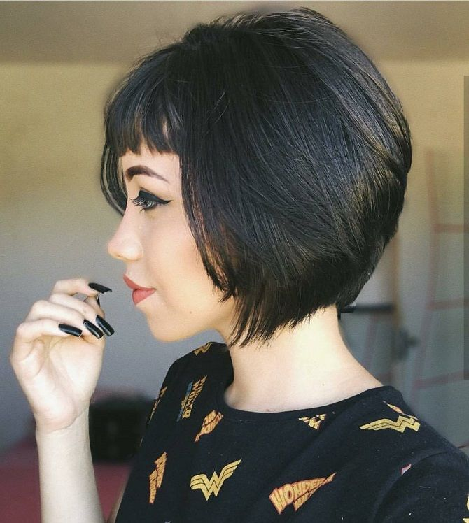 Hairstyles with bangs for short hair 2020
