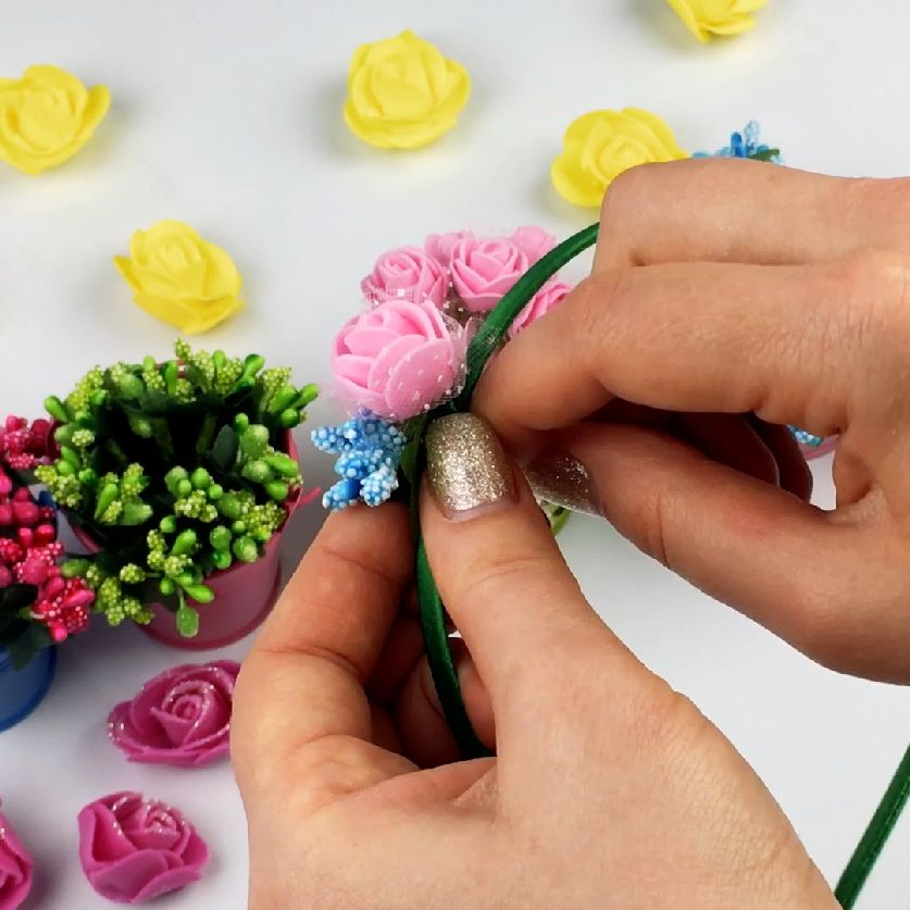 how to make a bezel with flowers