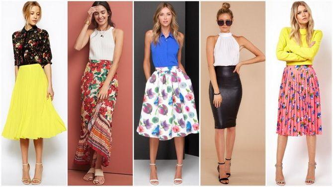 fashionable skirt print