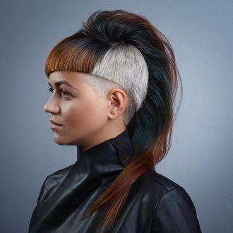 стрижки на длинные волосы с выбриванием