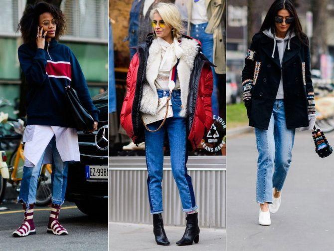 модні джинси зі швами попереду