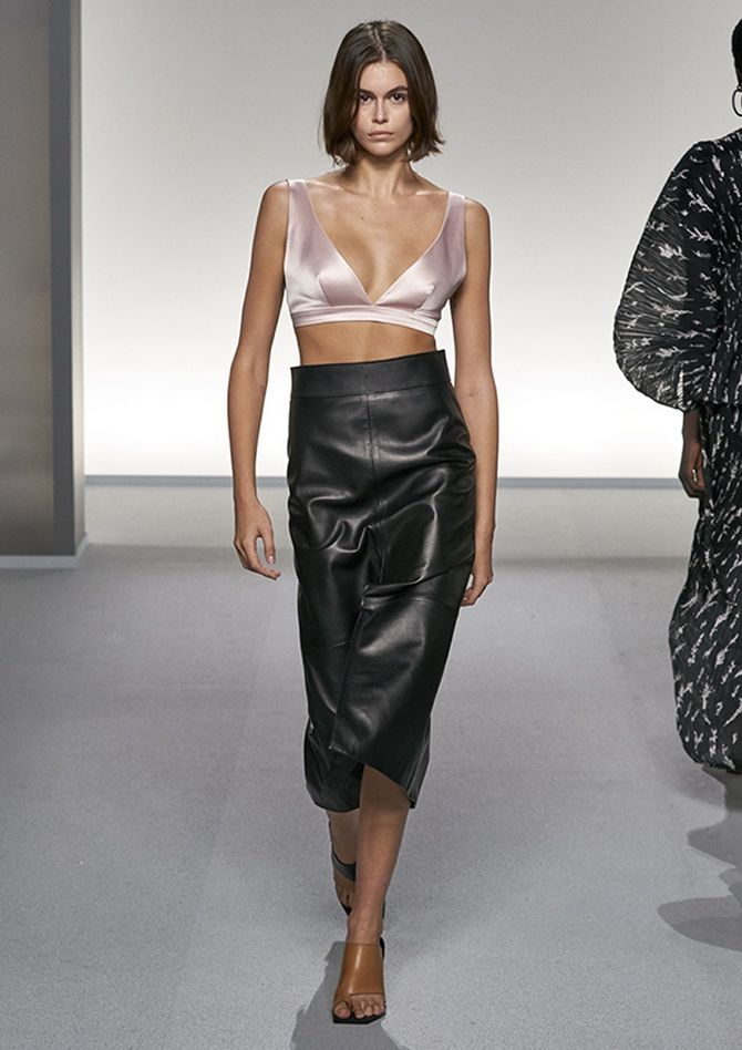 Kaya gerber leather skirts