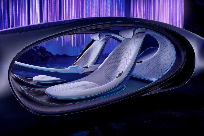 Это нереально! Mercedes-Benz создал футуристический автомобиль в стиле фильма «Аватар» 7