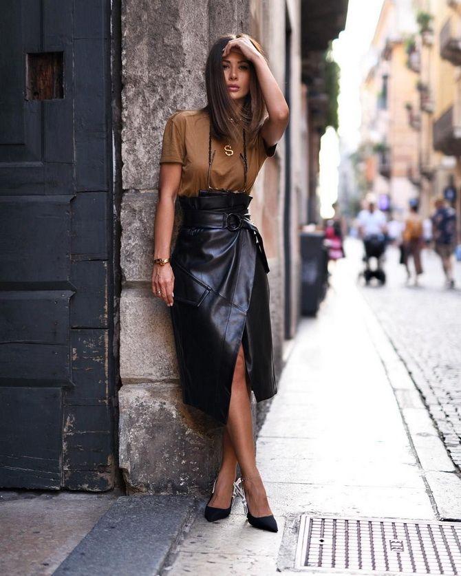 black Leather skirts