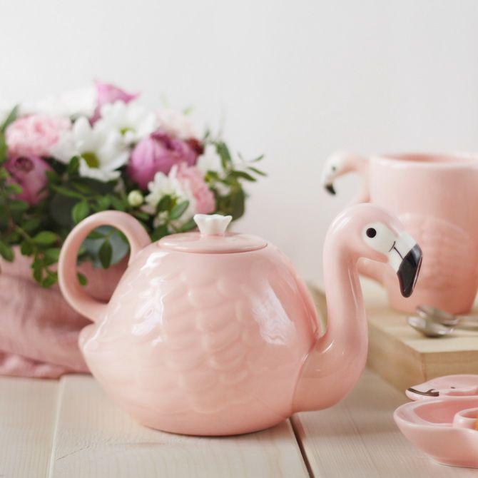 чайник фламинго