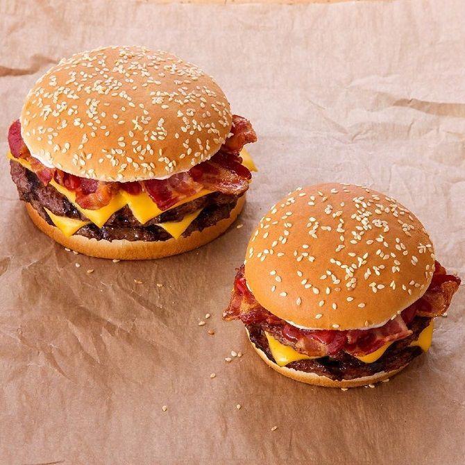 гамбургер с кунжутом