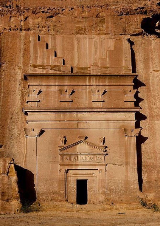 лестница из скалы набатея