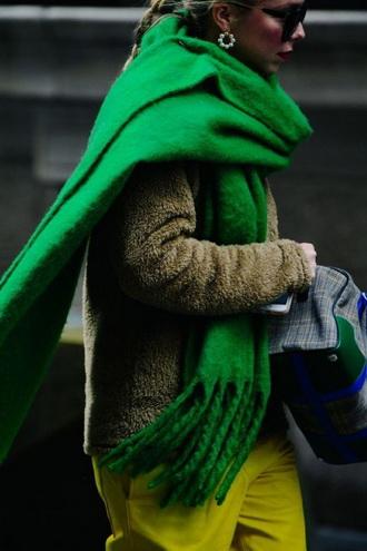 шарф зеленый