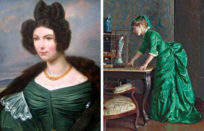 зелені сукні середньовіччя