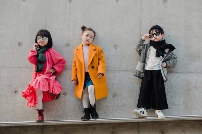 дівчатка в пальто