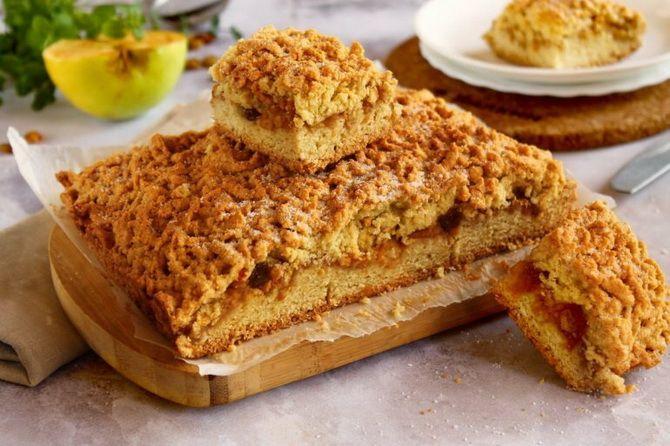 Пісочний пиріг з варенням