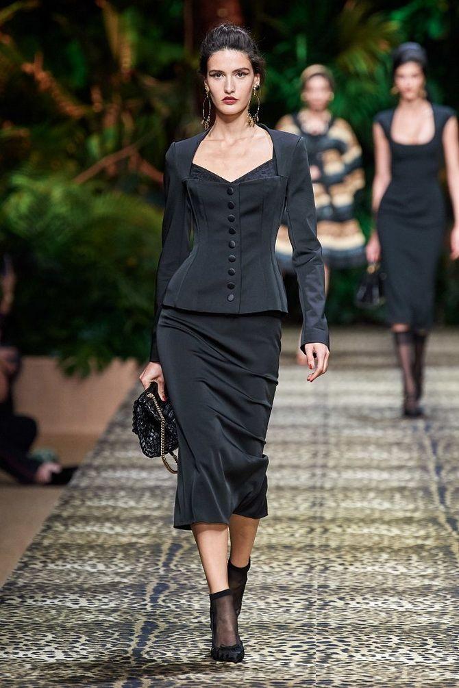 черный брючный костюм женский