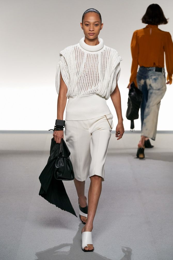 брюки бермуди білі