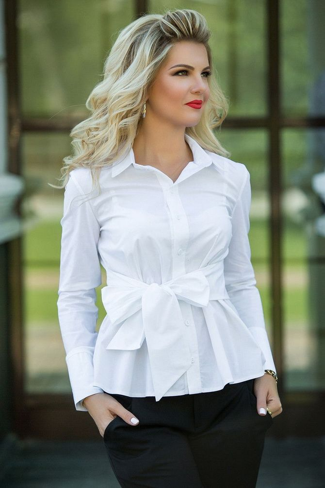 Women's white shirt with what to wear
