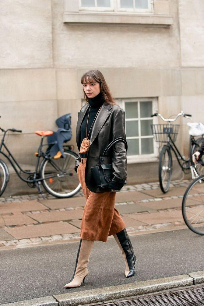 Модные женские сапоги на каблуке