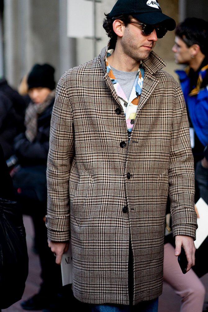 клечатое пальто