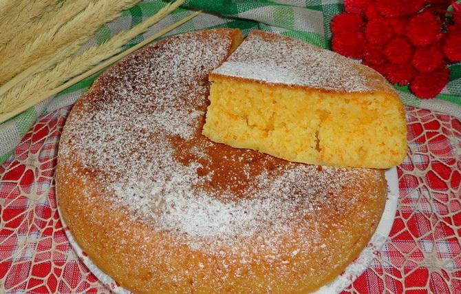 Морковный пирог на кефире