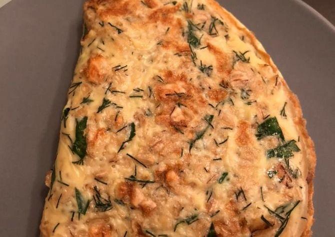 Соленый овсяноблин с сыром и грибами