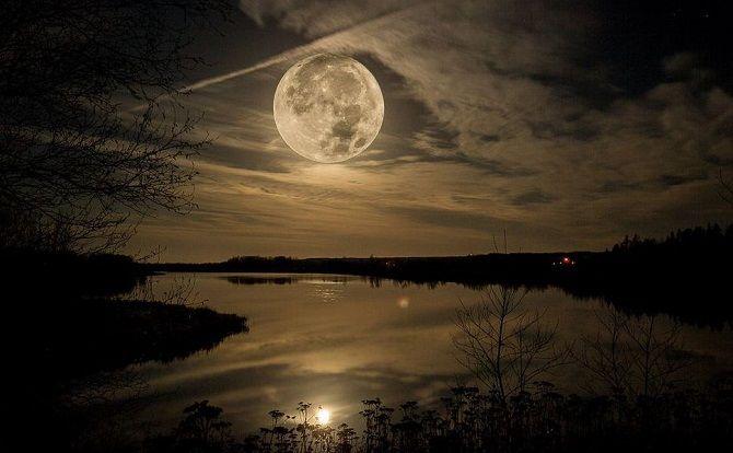 повний Місяць в лютому