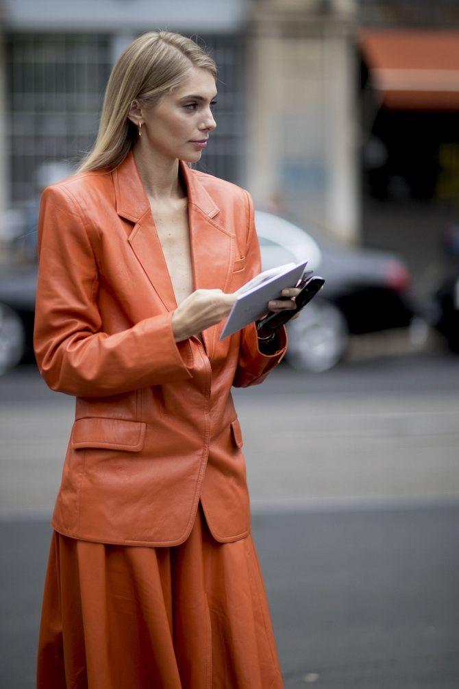 терракотовый пиджак женский