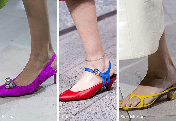 разноцветная обувь
