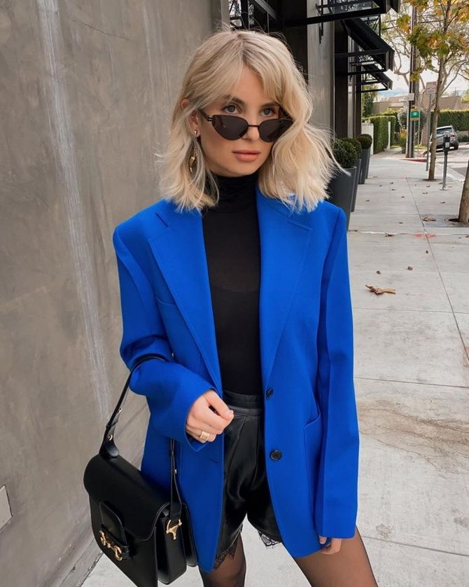 синий блейзер женский