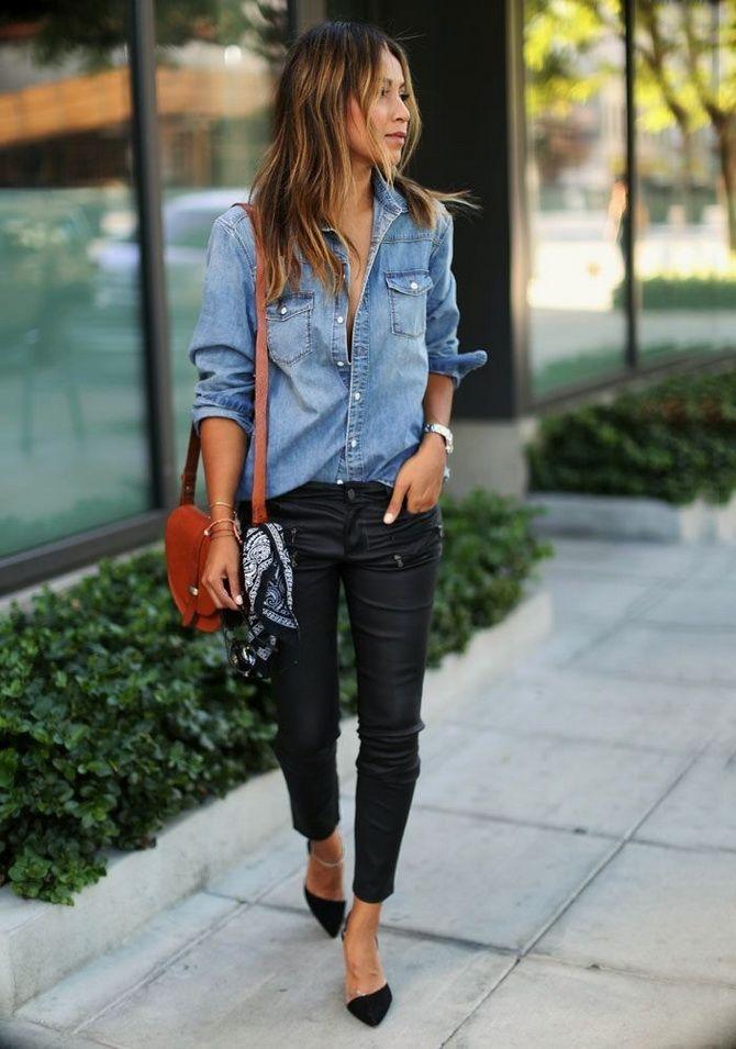 джинсова сорочка з джинсами