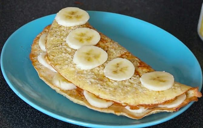 Рецепт овсяноблина с бананом