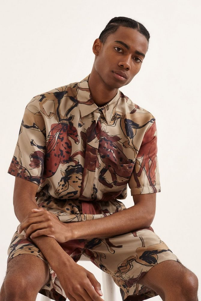 мужской брендовый рубашка