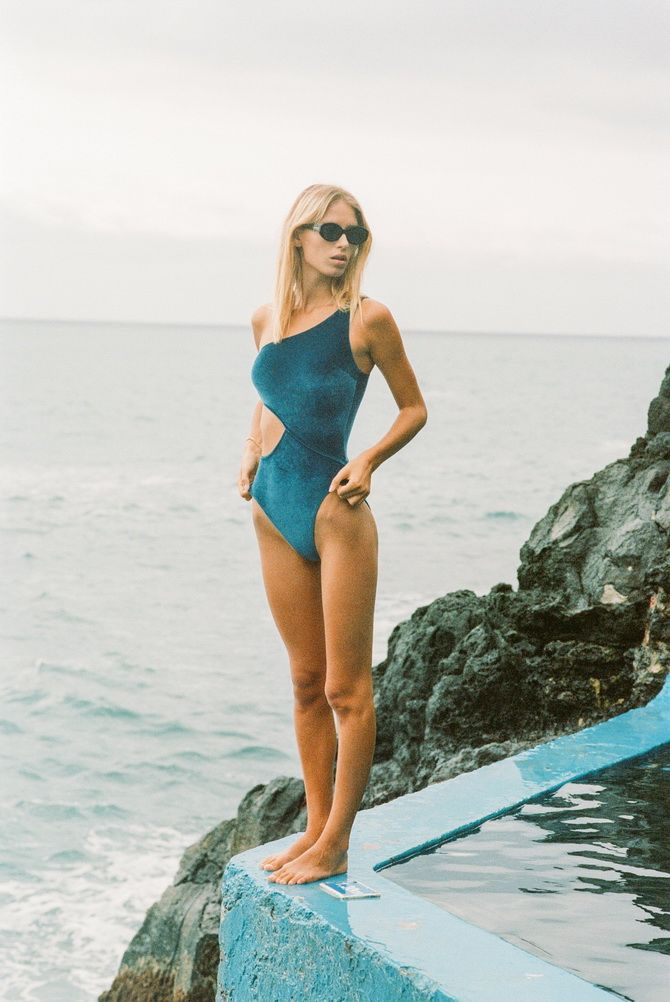 turquoise piece swimsuit