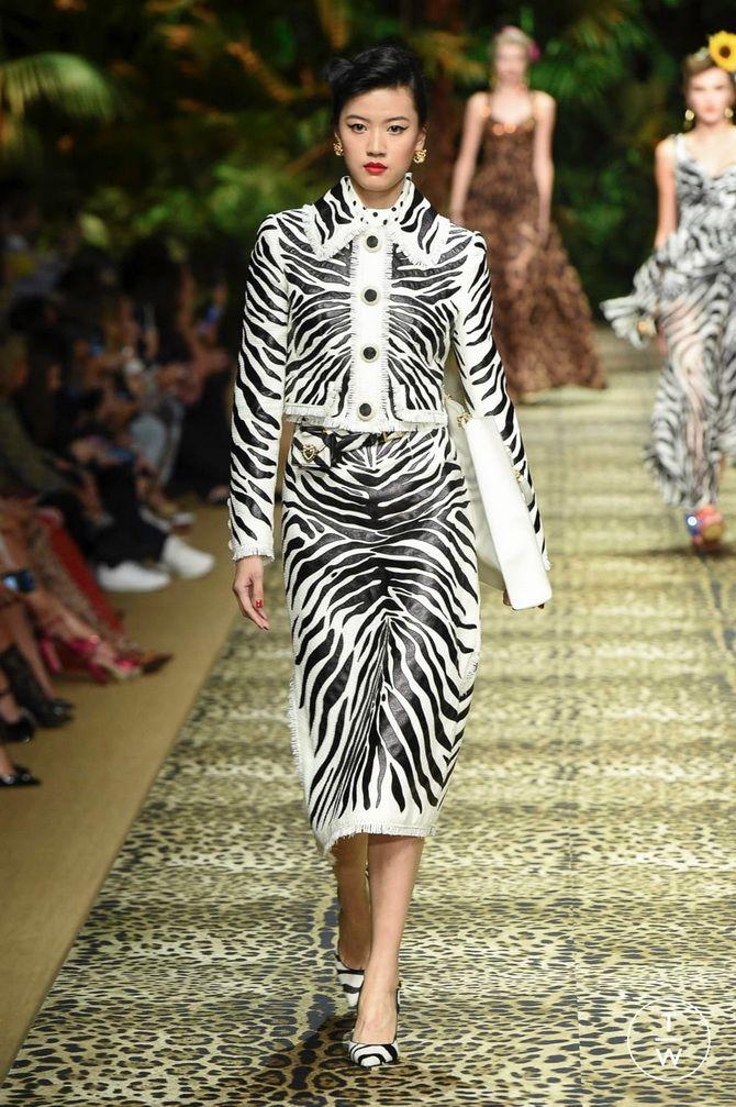 костюм принт зебра