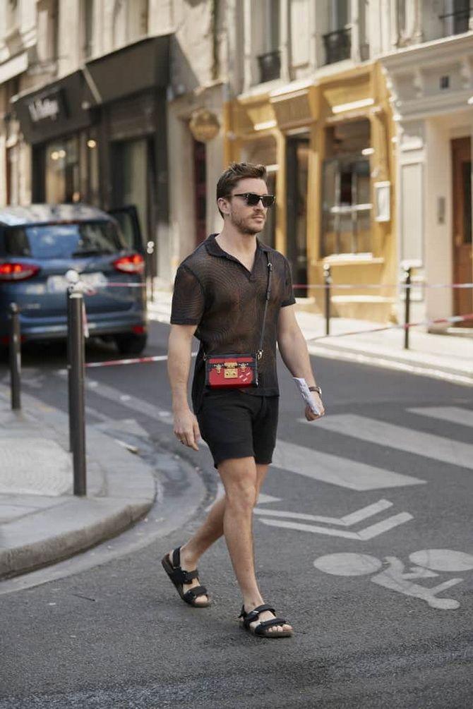 черные шорты мужчина