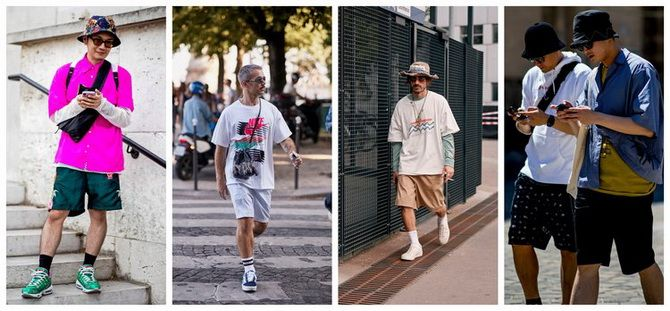 шорты белые мужские