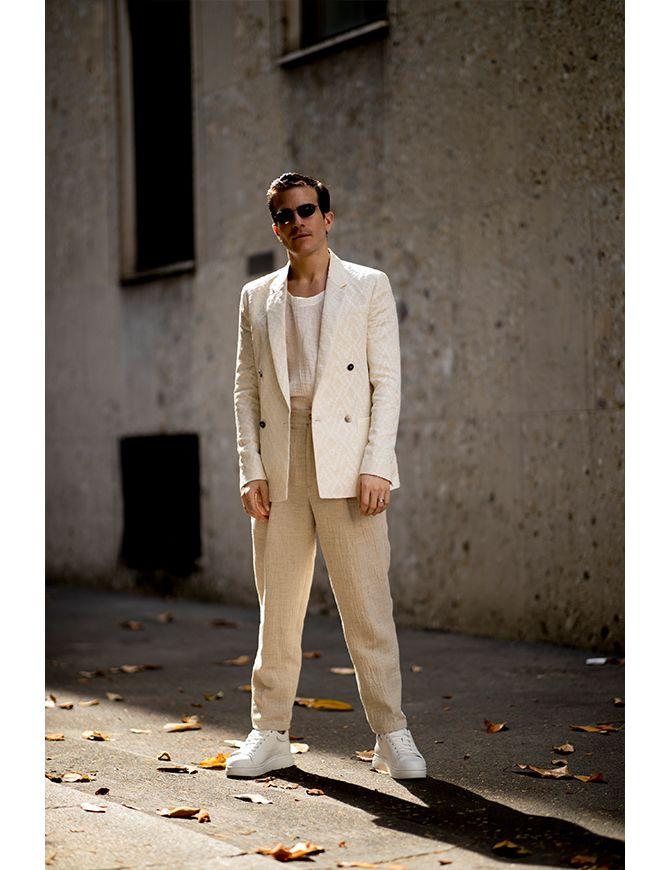 мужские белые брюки 2020
