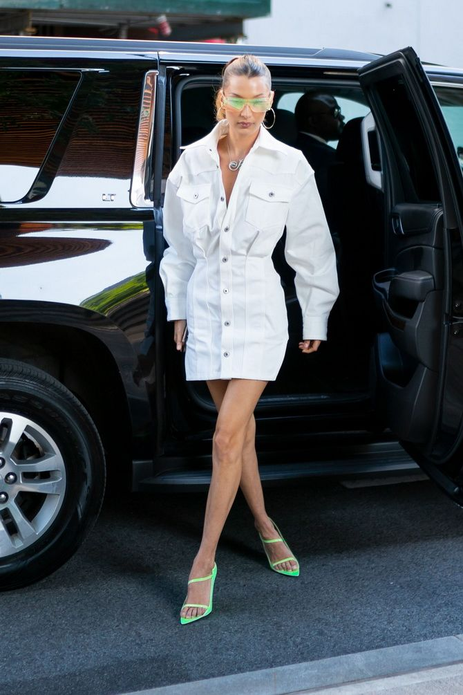 white shirt dresses bella hadid