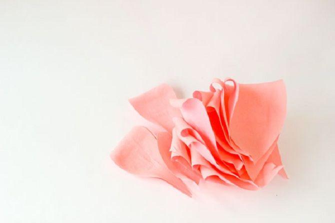 лепестки для цветка из бумаги