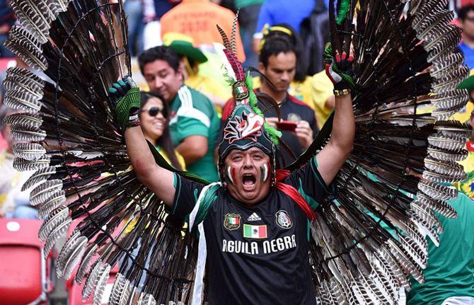 футбольные болельщики мексика