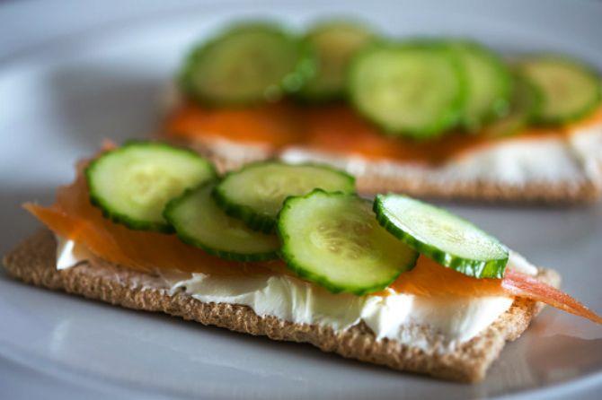 Бутерброд на основе диетических хлебцов