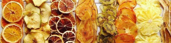 Яблочные чипсы и сухофрукты