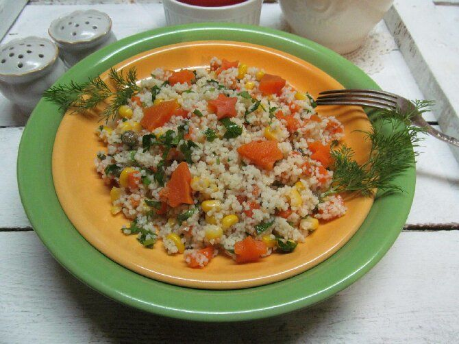 кускус с морквою