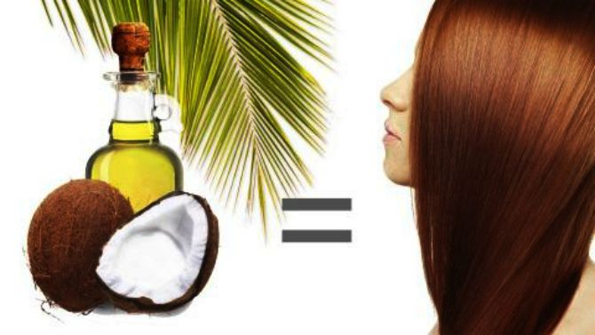 Маска для оздоровления сухих волос кокосовым маслом