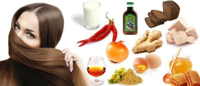 продукты для маски для волос
