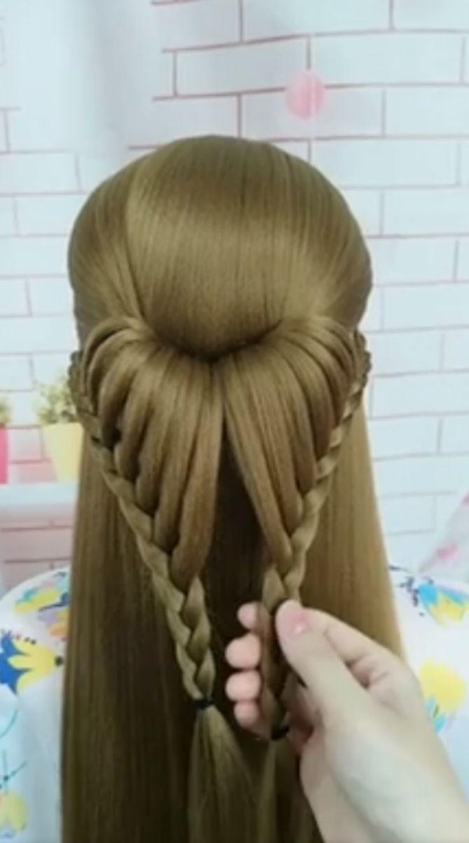 красивая прическа на длинные волосы