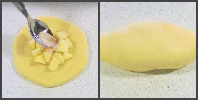 приготовление дрожжевого пирога с яблоками