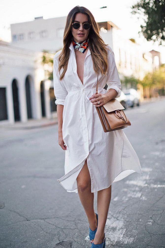 Белые платья-рубашки