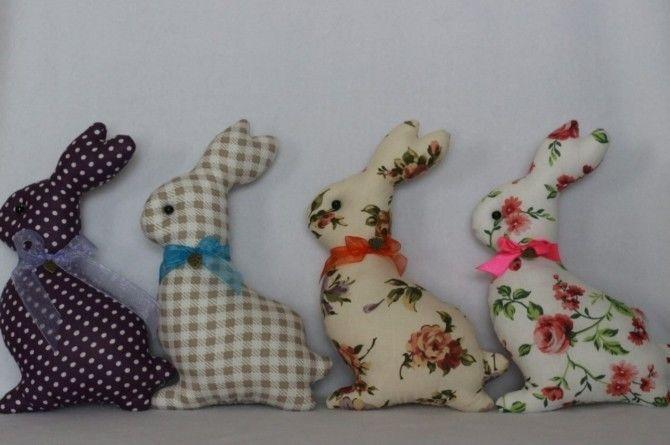Пасхальный кролик из ткани: