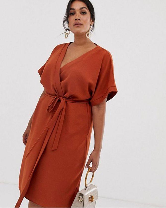 платья полной моды