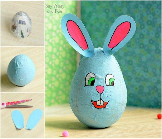 кролик из папье-маше